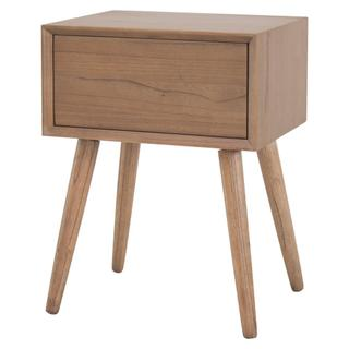 See Details - Henley KD Night Stand/ Side Table Wooden Legs, Newton Brown