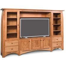 See Details - Aspen Wall Unit Entertainment Center with Inlay