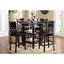 5-Piece Gia Counter Height Dining Set in Ebony