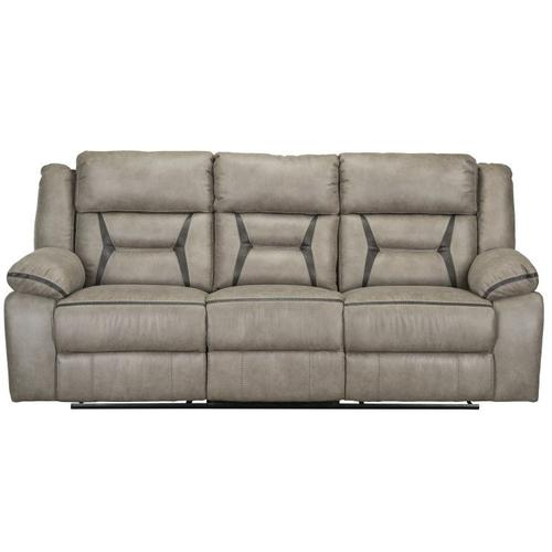 Standard Furniture - Acropolis Manual Motion Reclining Sofa with Power Strip, Beige