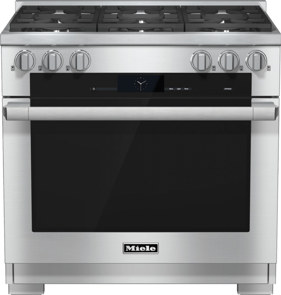MieleHr 1934-2 G - 36 Inch Range Dual Fuel With M Touch Controls, Moisture Plus And M Pro Dual Stacked Burners