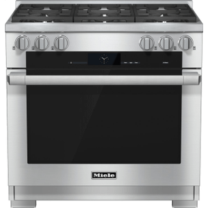 MieleHR 1934-2 LP - 36 inch range Dual Fuel with M Touch controls, Moisture Plus and M Pro dual stacked burners