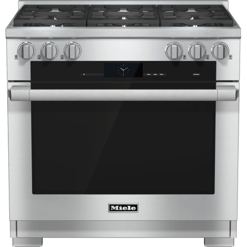 HR 1934-2 LP - 36 inch range Dual Fuel with M Touch controls, Moisture Plus and M Pro dual stacked burners