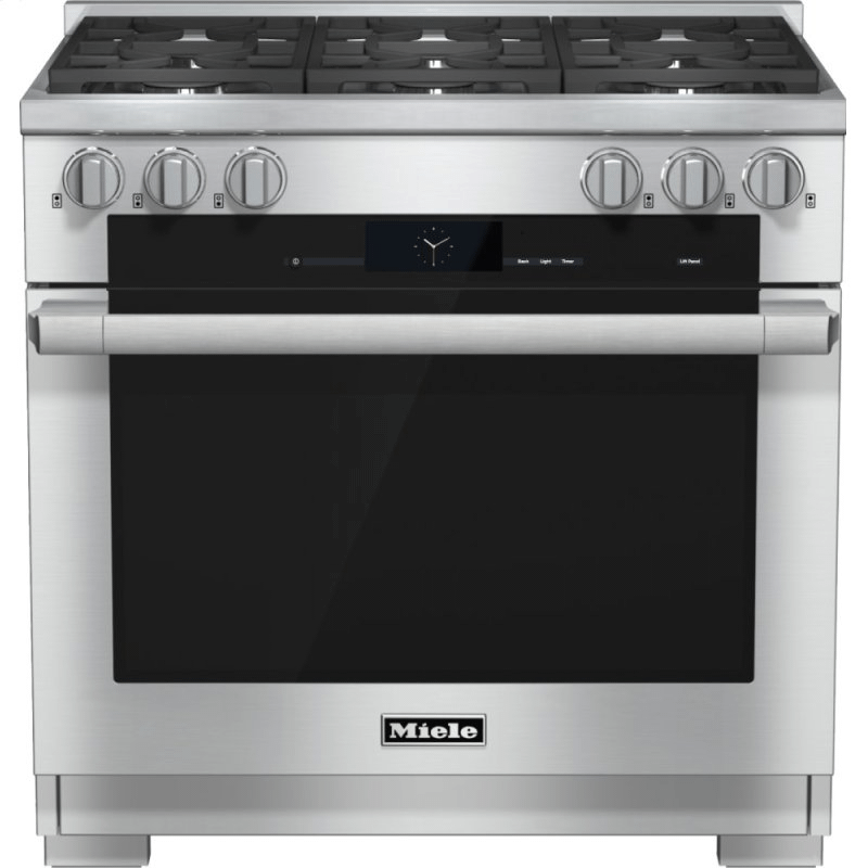 HR 1934-2 G - 36 inch range Dual Fuel with M Touch controls, Moisture Plus and M Pro dual stacked burners
