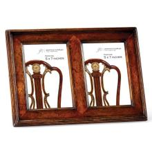 "5""X7"" Double Country Walnut Picture Frame"