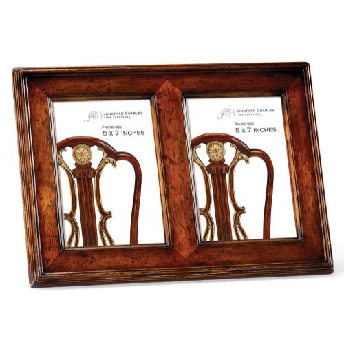"""5""""X7"""" Double Country Walnut Picture Frame"""