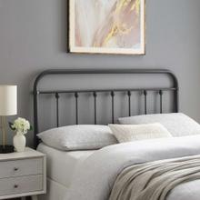 Sage King Metal Headboard in Gray