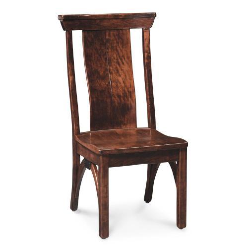 Simply Amish - B&O Railroad Trestle Bridge Side Chair, Wood Seat