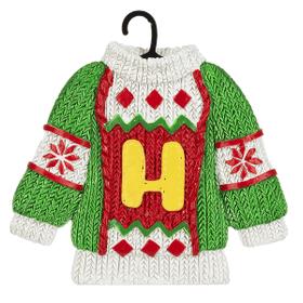 Sweater Ornament - H