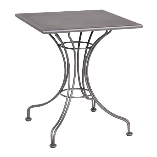"""Woodard Furniture - Solid Iron 24"""" Square Bistro Table with Universal Base"""