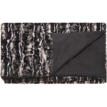 "Fur N9508 Black/silver 50"" X 70"" Throw Blanket"