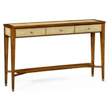 Ivory shagreen console table with drawers