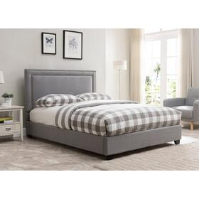 Banff Platform Bed - Queen, Grey