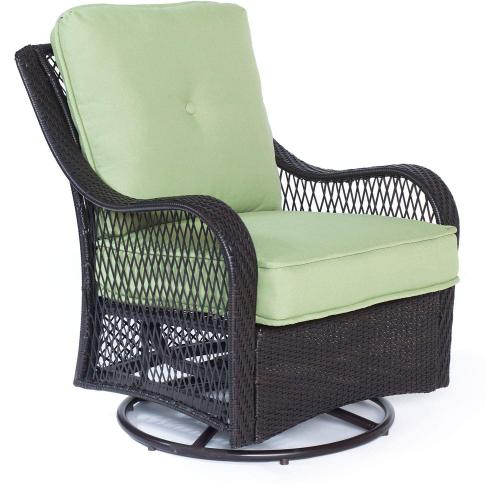 Hanover Orleans 4-Piece All-Weather Patio Set in Avocado Green, ORLEANS4PCSW