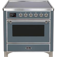 See Details - Majestic II 36 Inch Electric Freestanding Range in Blue Grey with Chrome Trim