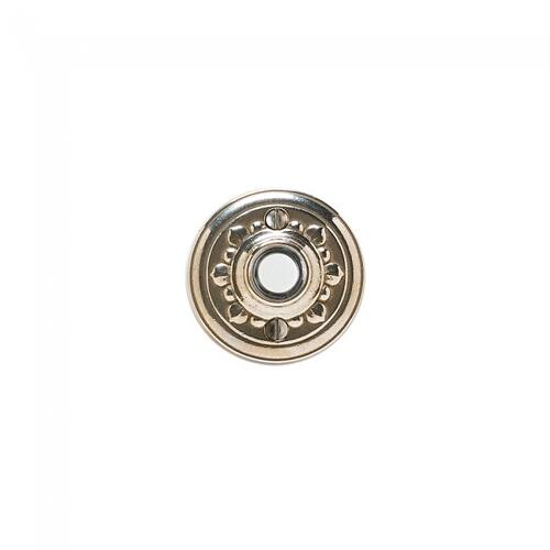 Bordeaux Doorbell Button White Bronze Brushed