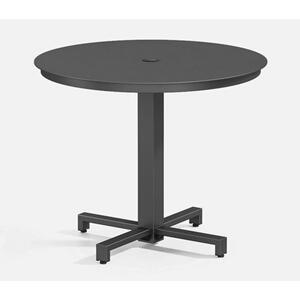 "36"" Round Cafe Table (with Hole) Ht: 29.25"" 2330B Universal Aluminum Base (Frame Finish: Carbon)"