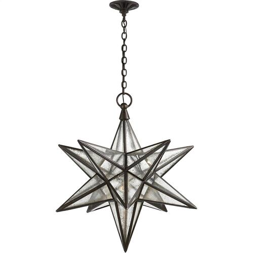 Visual Comfort CHC5212AI-AM E. F. Chapman Moravian Star 1 Light 30 inch Aged Iron Pendant Ceiling Light