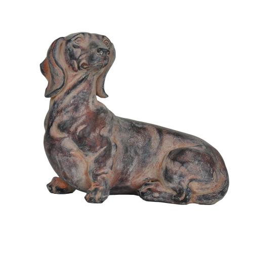 Crestview Collections - Relaxing Dachshund Statue