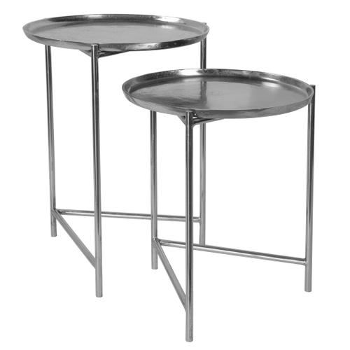 Burnett Nesting Tables, Nickel, S/2