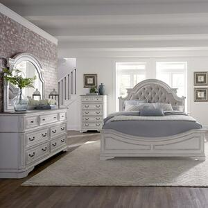 Liberty Furniture Industries - King Uph Bed, Dresser & Mirror, Chest