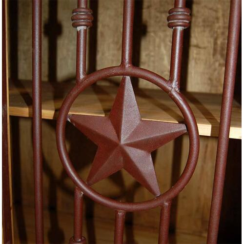 Dark 4 PC Metal Star Wall Unit