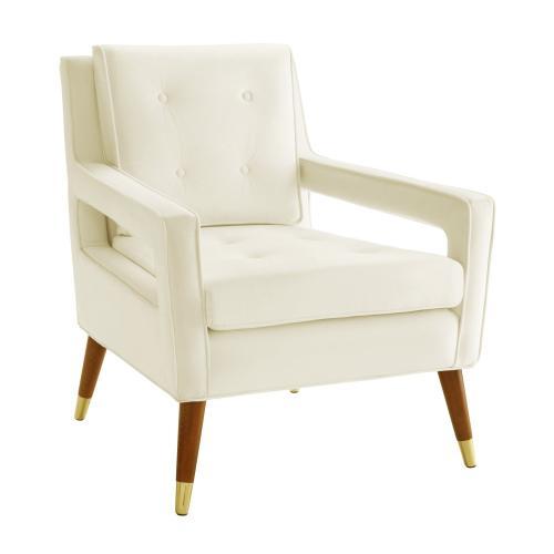Draper Cream Velvet Chair