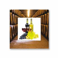 See Details - Wine and Grapes With Background Miniature Fine Wall Art