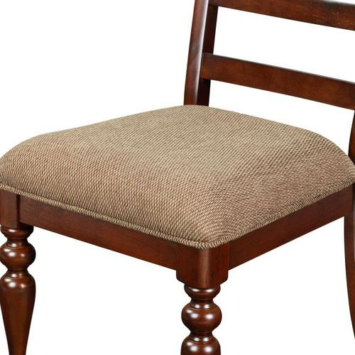 Woodmont 2-Pack Side Chairs with Upholstered Seat, Brown Cherry