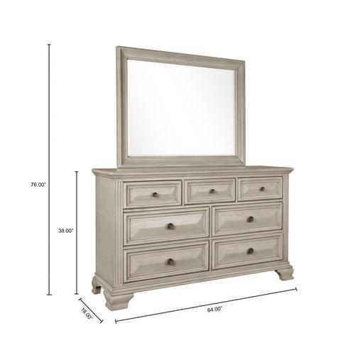 Passages Light 7-Drawer Dresser, White