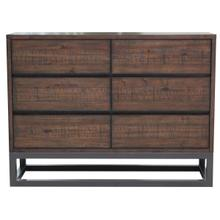 Modern Industrial 6 Drawer Dresser
