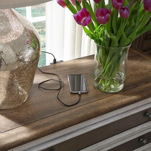 Pulaski Furniture - Glendale Estates 2 Drawer USB Charging Open Nightstand