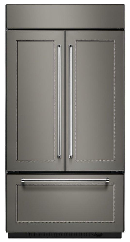"""KitchenAid24.2 Cu. Ft. 42"""" Width Built-In Panel Ready French Door Refrigerator With Platinum Interior Design - Panel Ready Pa"""