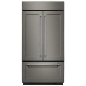 "24.2 Cu. Ft. 42"" Width Built-In Panel Ready French Door Refrigerator with Platinum Interior Design - Panel Ready PA"