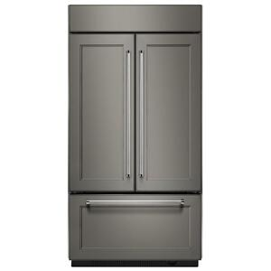 "KitchenAid20.8 Cu. Ft. 36"" Width Built In Panel Ready French Door Refrigerator with Platinum Interior Design - Panel Ready PA"