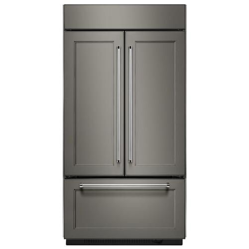 "20.8 Cu. Ft. 36"" Width Built In Panel Ready French Door Refrigerator with Platinum Interior Design - Panel Ready PA"