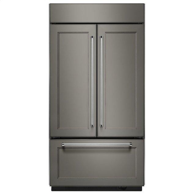 "Kitchenaid 20.8 Cu. Ft. 36"" Width Built In Panel Ready French Door Refrigerator with Platinum Interior Design - Panel Ready PA"