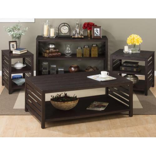 Rich Roast Slatted Sofa/media Table