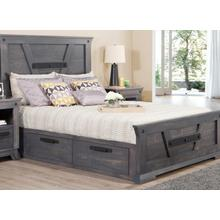 See Details - Algoma Double 4 Drawer Storage Platform Bed Bed with 22'' Low Footboard