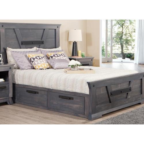 Handstone - Algoma Queen 4 Drawer Storage Platform Bed Bed with 22'' Low Footboard