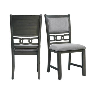 See Details - Amherst Dining Side Chair W/Fabric Cushion Side Stretcher Grey Finish (2 Per Pack)