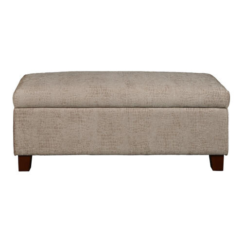 Hinged Top Storage Bed Bench in Aldo Overcast