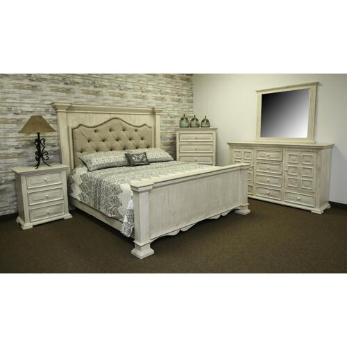 Terra White King Upholstered Bed
