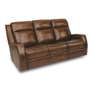 FlexsteelMustang Power Reclining Sofa with Power Headrests