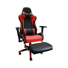 Racing Style Game Chair Reclining Gaming Chair Ergonomic Computer Chair for Gamer with Head Cushion Adjustable Armrest and Footrest - Red
