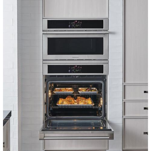 "Monogram 30"" Smart Electric Convection Single Wall Oven Statement Collection"
