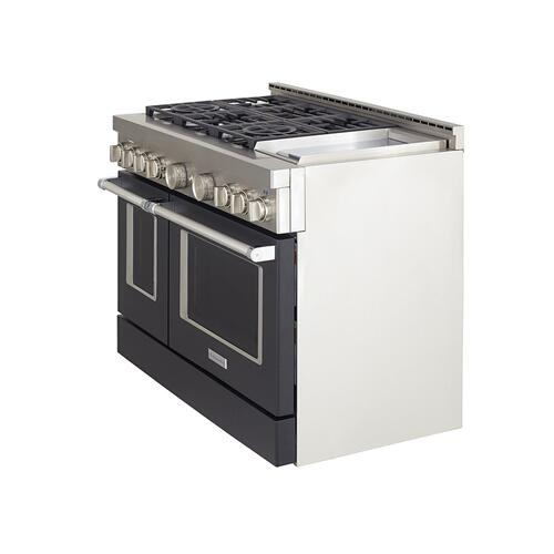 KitchenAid Canada - KitchenAid® 48'' Smart Commercial-Style Gas Range with Griddle - Imperial Black