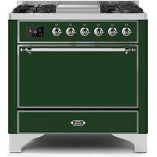 36 Inch Emerald Green Dual Fuel Natural Gas Freestanding Range