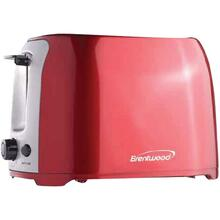 2-Slice Cool-Touch Toaster with Extra-Wide Slots (Red and Stainless Steel)