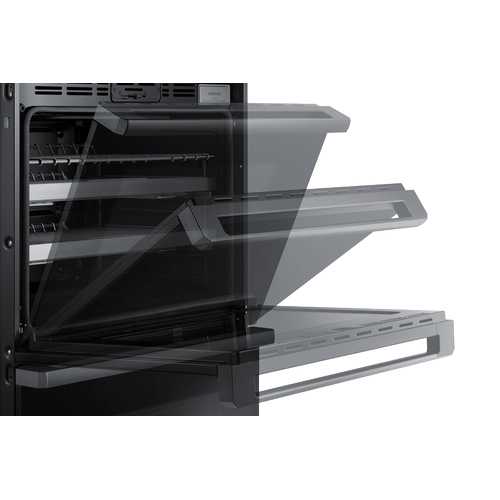 "30"" Steam-Assisted Double Wall Oven, Graphite Stainless Steel - Floor Model"